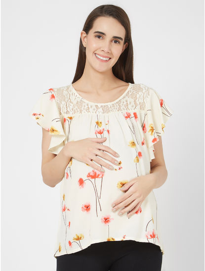 Maternity Pretty Floral Top