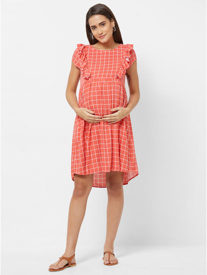 Maternity Checked Dress