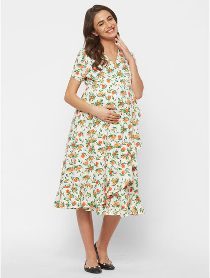 Stylish Maternity Overlap Dress