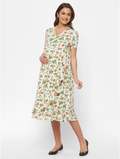 Classic Cotton Maternity Overlap Dress