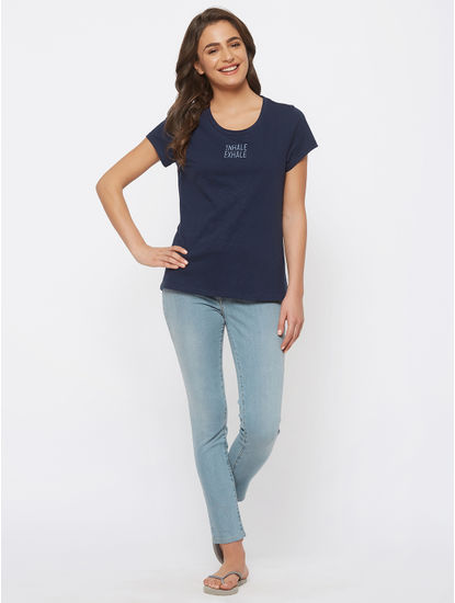 Stylish Embroidered Lounge Tee