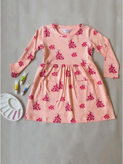 Girls Dreamy Peach Sleep Dress