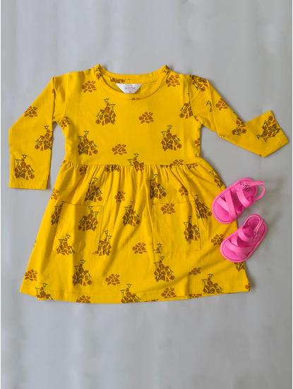Girls Cozy Yellow Sleep Dress