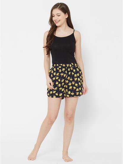Pretty Floral Print Sleep Shorts