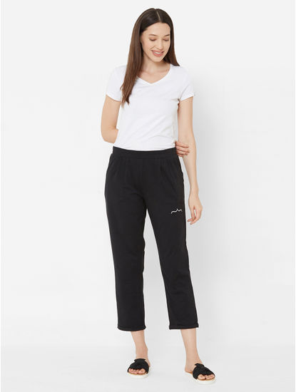 Solid Cropped Lounge Pants
