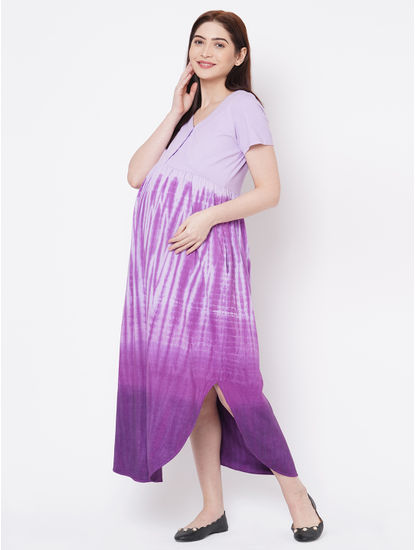 Classy Cotton Tie N Dye Maternity Dress