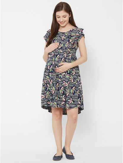 Chic Maternity Floral Dress