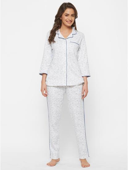 Classic Blue Cotton Pyjama Set