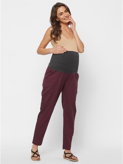 Elegant Cotton Maternity Lounge Pants