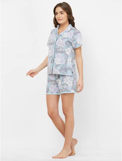 Pretty Floral Cotton Printed Shorts Set