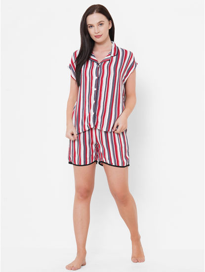 Comfy Striped Shorts Set