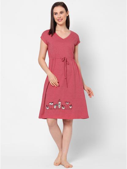 Cocktail Embroidered Sleep Dress