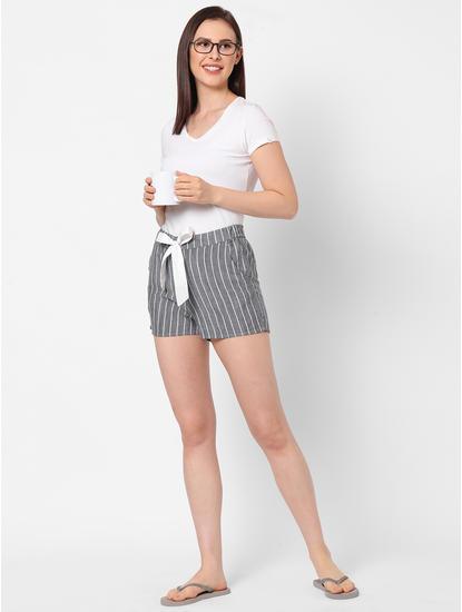 Classic Striped Cotton Lounge Shorts