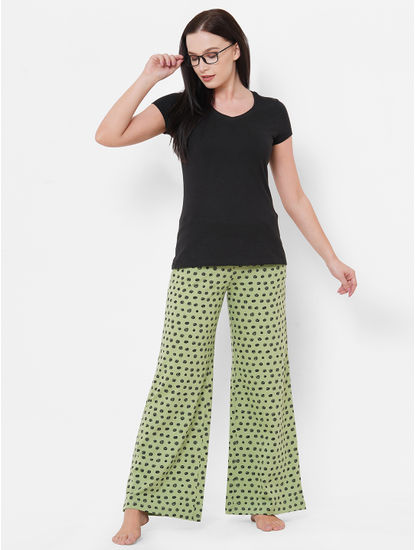 Classic Green, Black Polka Dot Pyjamas