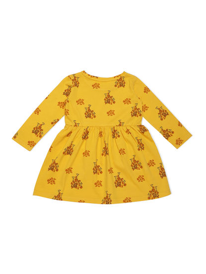 Girls Cozy Yellow Sleep Dress