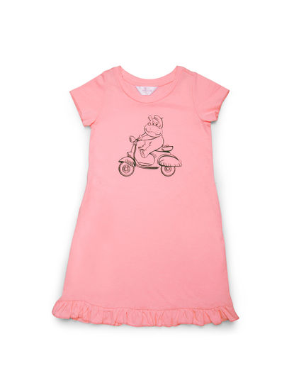 Girls Cute Hippo Sleep Tee