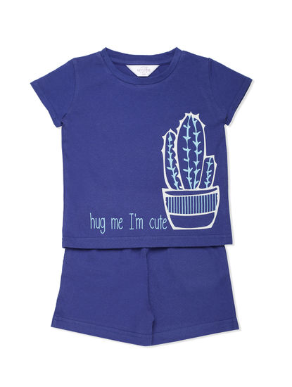 Girls Cute Cactus Shorts Set