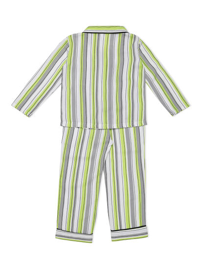Girls Classic Striped Pyjama Set