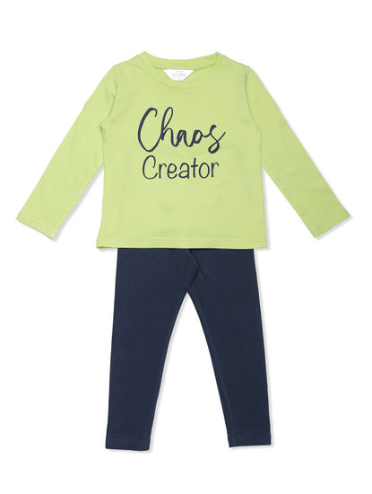 Girls Comfy Leggings T-shirt Set