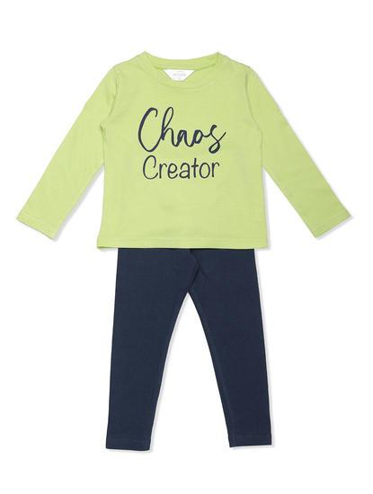 Girls Comfy Leggings T-shirt Set
