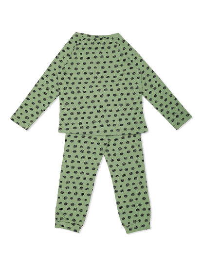 Girls Comfy Polka Dot Jogger Set