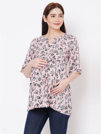 Stylish Floral Maternity Top