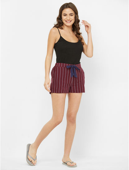 Classic Striped Lounge Shorts
