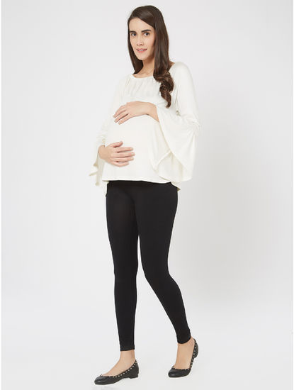 Stunning White Viscose Maternity Top