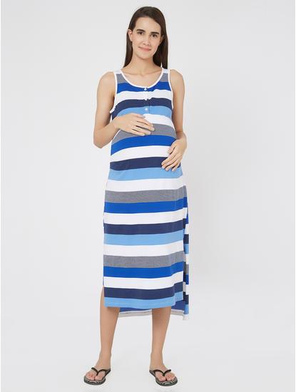 Maternity Striped Knit Dress