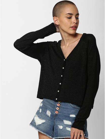 Black Shimmer Cardigan