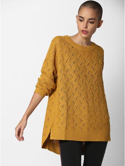 Mustard Textured Pullover