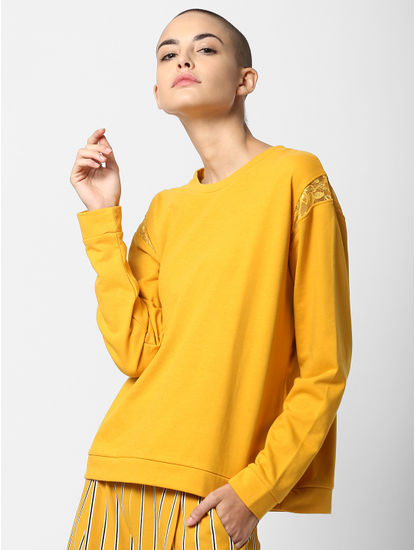 Yellow Lace Sweatshirt