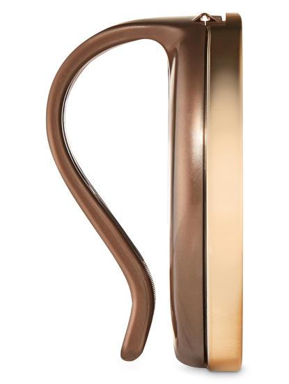 Gold Leaves Visor Clip Car Fragrance Holder