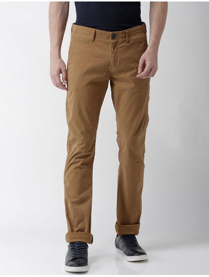 Fomone Brown Straight Chinos