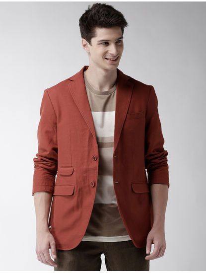 Rust Solid Blazer
