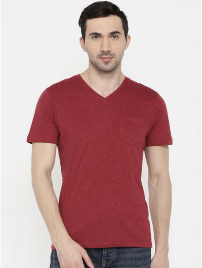 Maroon Melange T-Shirt