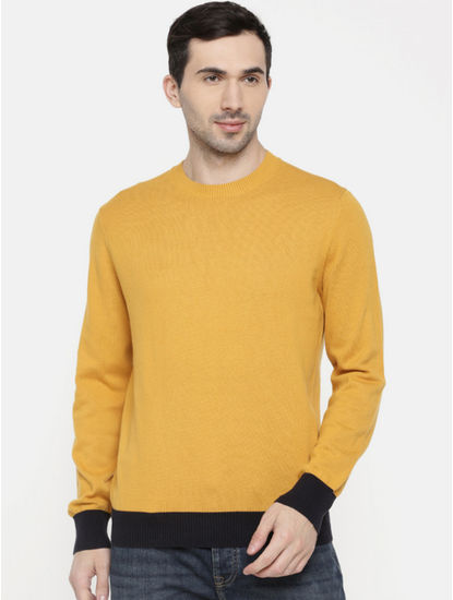 Yellow Solid Sweater
