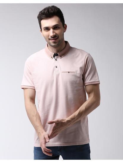Peach Solid Polo T-Shirt