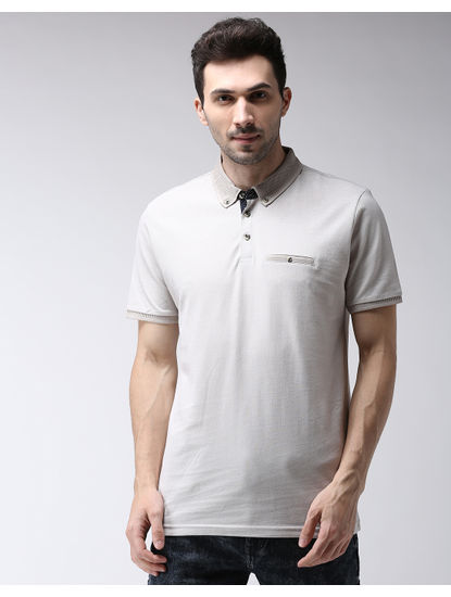 Light Sand Solid Polo T-Shirt