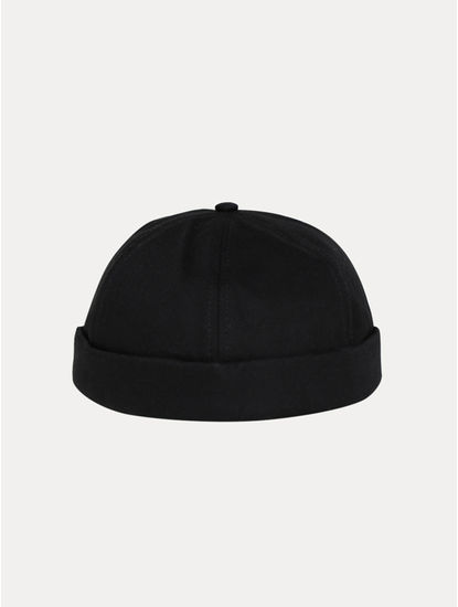 Black Solid Beanie