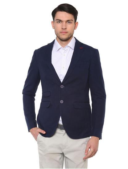 Navy Solid Blazer