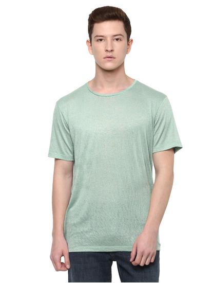 Green Lichen Solid T-Shirt