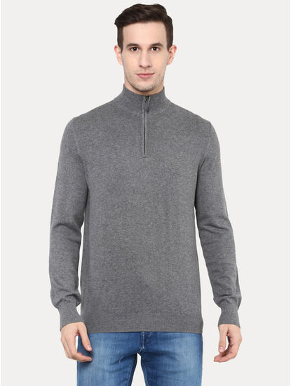 Grey Melange Sweater