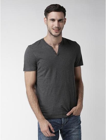Dark Grey Melange T-Shirt