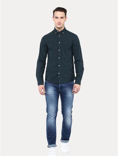 Vert Checked Casual Shirt