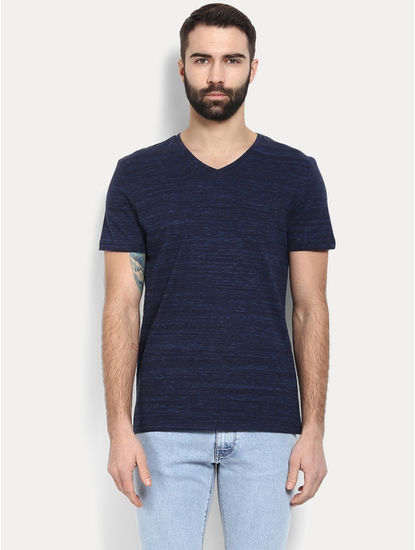 Dark Blue Melange T-Shirt