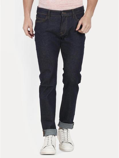Dark Navy Straight Jeans