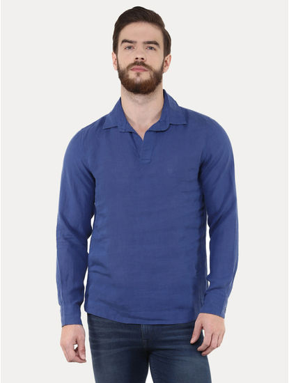 Marine Solid Casual Shirt