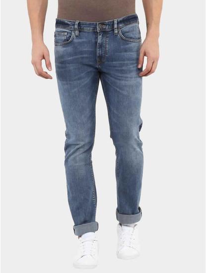 Josoft Blue Straight Jeans