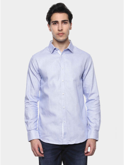 Janice Blue Printed Casual Shirt